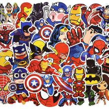 50pcs/set Super Hero Stickers For Computer PS4 Pad Phone Laptop TV Fridge Bicycle Waterproof DIY Decal Sticker(China)
