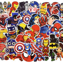 50pcs/set Super Hero Stickers For Computer PS4 Pad Phone Laptop