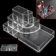 Acrylic Transparent Cosmetic Makeup Box 8 Grids Jewelry Storage Case Organizer