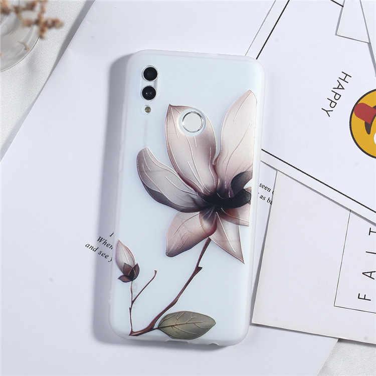 Keren Indah 3D Relief Bunga Phone Case untuk Xiaomi Redmi 7 7A Note 7 PRO 5 5A 6 6A 7 7A S2 Pergi K20 Pro Girly Silikon Soft Case