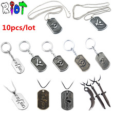 10pcs/lot wholesale CSGO Keychain Counter Strike dog tag Keyring For Men Male necklace chaveiro men jewelry key buckle fans gift