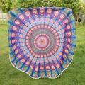 Bohemian Round Mandala Indian Hippie Tapestry Beach Throw Towel Yoga Mat Tassels