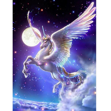 Unicorn moon diamond Embroidery diy painting mosaic diamant 3d cross stitch pictures H499