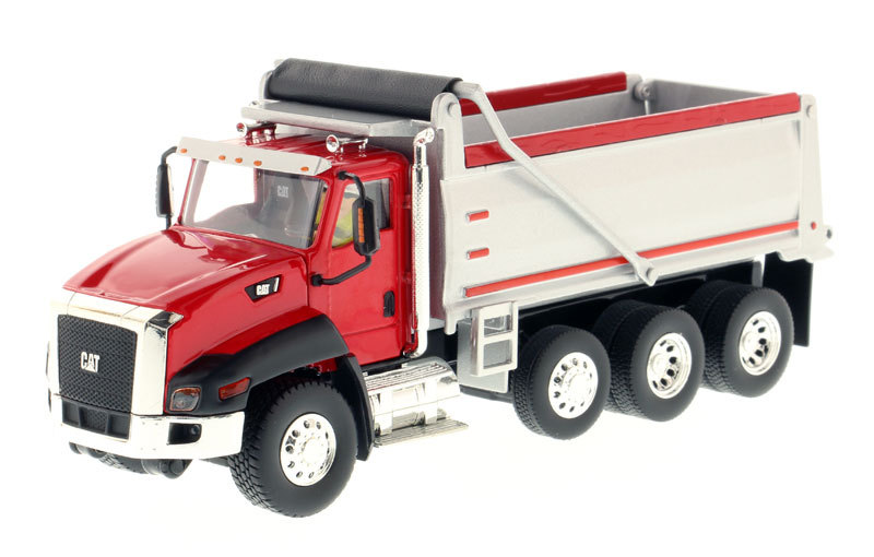 DM Carter 1:50 CAT CT660 DUMP TRUCK Engineering Vehicle Automatic Loading and Unloading Truck Model 85502