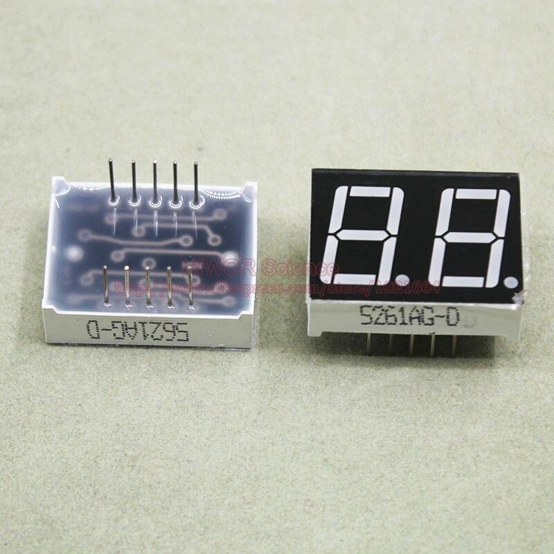 (10 pcs/lot) 10 broches 5621AG 0.56 pouces 2 chiffres Bits 7 segments vert LED affichage Cathode commune affichage numérique
