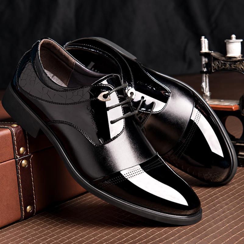 Luxe Formelle En Derby Verni Hommes À Noir Classique Noir Bureau Cuir Lacets marron De Brun Chaussures Pour Mariage Oxford Robe srCohQdBxt