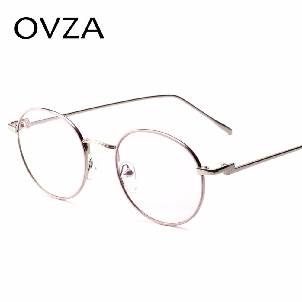 b5702dc8c413 OVZA Vintage Round Optical Frame Mens Fashion Reading Glasses for Women  Metal Eyeglasses Frames Retro oculos