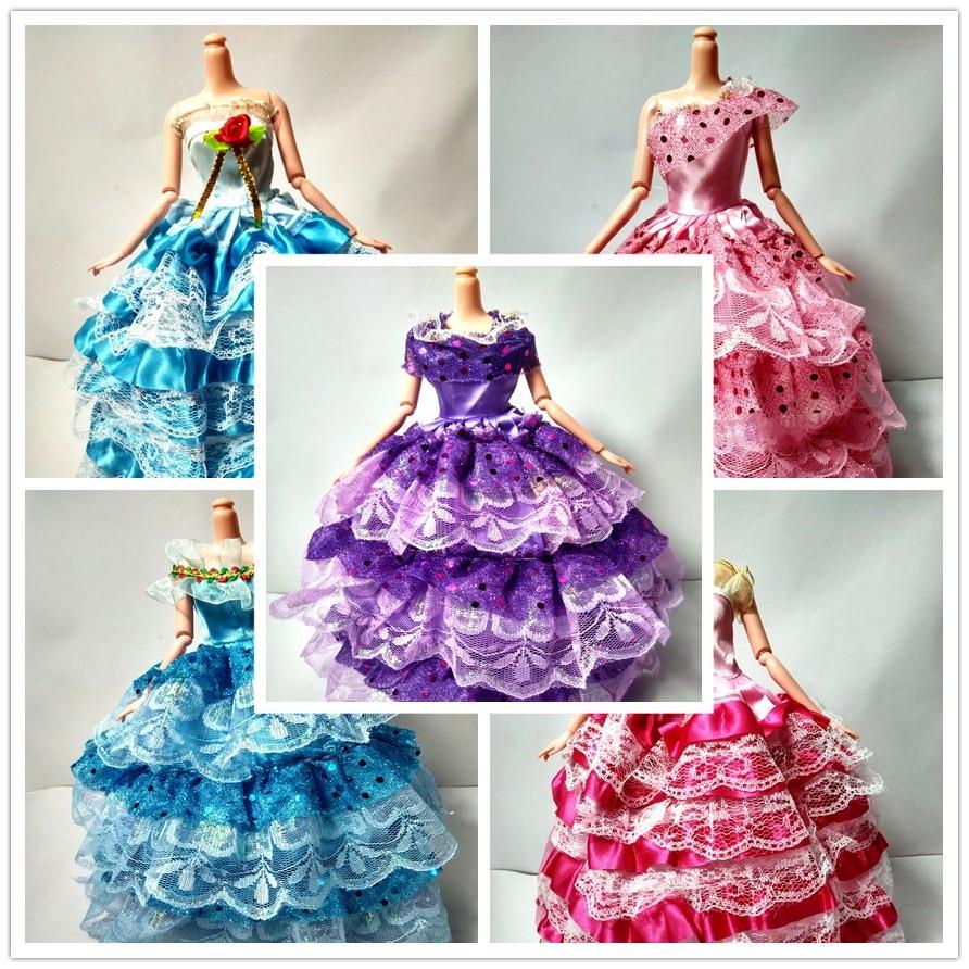 Random Decide 1 Pcs Handmade Get together Doll's Costume Garments Robe Princess Marriage ceremony Garments For Barbie Doll Reward Child Toys