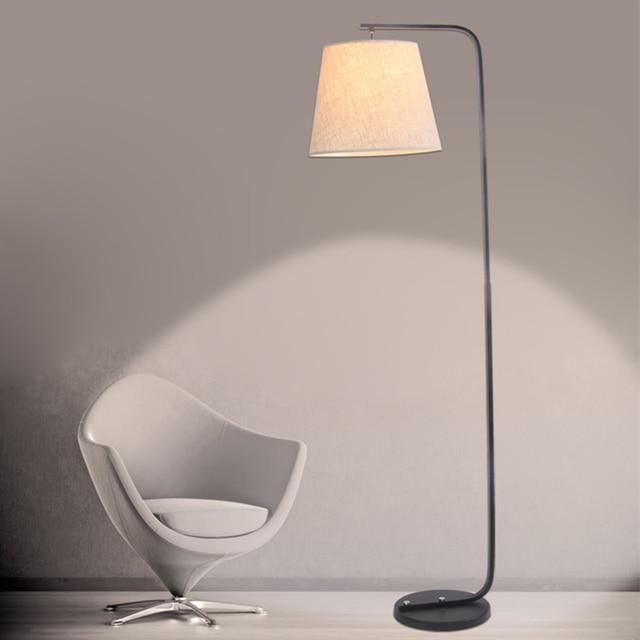 Marvelous Modern Simple Led Floor Lamp Fabric Lampshade AC 90 260V E27 Stand Lighting  For Living Room Staanlampen Lambader Lamparas De Pie