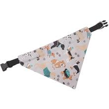 Модная симпатичная бандана для собак с животным узором на воротнике с двумя бортами различные узоры треугольная повязка аксессуары для домашних животных