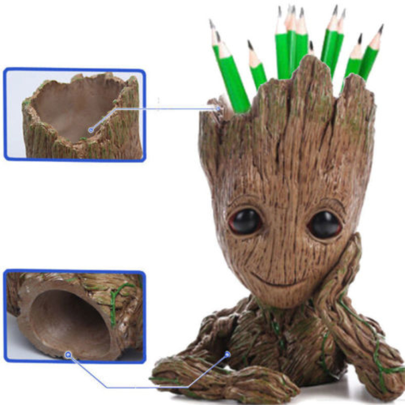 16 cm Guardians of The Galaxy Flowerpot Tree Man Action Figures Cute Model Toy Pen Pot Best Birthday Gifts For Kids Hobbies