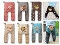 2015 подгузники мультфильм печать трикотажные busha п . п . эластичный пояс малыша леггинсы детская одежда 3 - 24 м