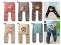 2015 Baby Pants cartoon print knitted busha  pp pants elastic waist toddler Leggings Kids Clothes 3-24 M