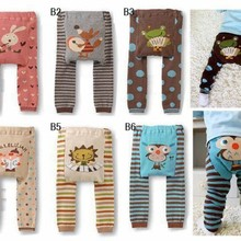 7223a4eaf 2015 Baby Pants cartoon print knitted busha pp pants elastic waist toddler  Leggings Kids Clothes 3