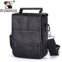 FUZHINIAO Messenger Bag Men's Shoulder Bag Crossbody Mens Male Bags Small Flap Handbag Clutch Sling Black Cover Vintage Set