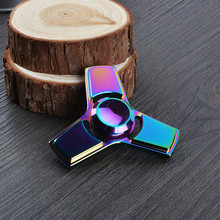 DHL 200pcs/lot New Arrival Colorful Fidget Spinner Tr-Spinner Metal Spinner Toys For Adult/Children With Box