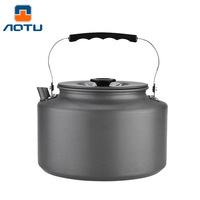 2L Outdoor Camping Coffee Tea Pot Camping Hiking ultralight Kettle Aluminum Alloy with Heat Proof Handle Teapot Picnic