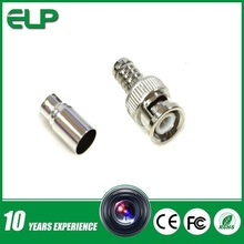 Free-welding bnc connector, Used for RG58,RG59,RG6U for cctv cameras