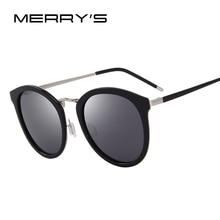 Merry's Для женщин Брендовая Дизайнерская обувь кошачий глаз Солнцезащитные очки Мода поляризованные Защита от солнца Очки Металл храм 100% УФ-защитой s'6168