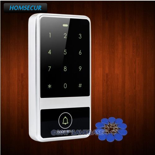 HOMSECUR Waterproof Silver 13.56Mhz IC Access Control with Metal Case+Backlight