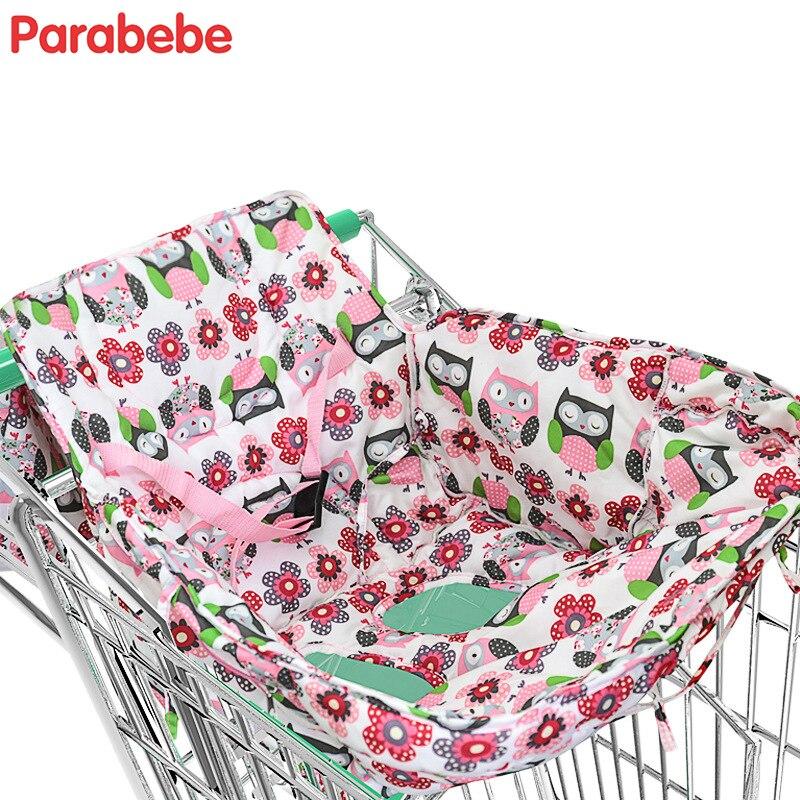 2018 New children shopping cart cover cute cartoon baby highchair cover Kids Boys Girls portable trolley push chair cushion mat