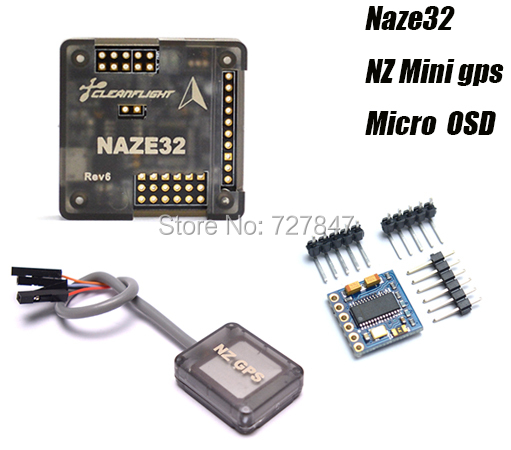 Naze 32 Naze32 Flight Control Board + Mini GPS NZ GPS + MICRO MINIMOSD OSD For QAV250 QAV-X Mini Muticonpter FPV high quality micro scisky 1s 32 bits brushed flight control board naze 32 for quadcopter accessories