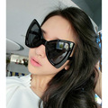 Fashion super frame women sunglass black big frame beach sunglass au400 protection eyeglasses lady shading goggle uv400 eyeglass