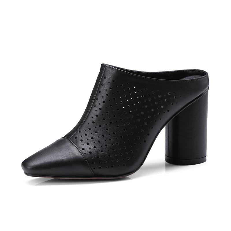 Pompes Talons 8 Escarpins brown Chaussures Black En Hauts 5 D'été 33 Cm Femmes white Véritable Cuir 40 Dames 2IeE9bHDWY