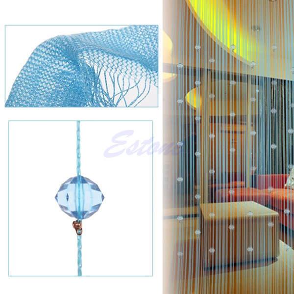 Beaded Curtain Crystal Divider Decorative String Door Window Room