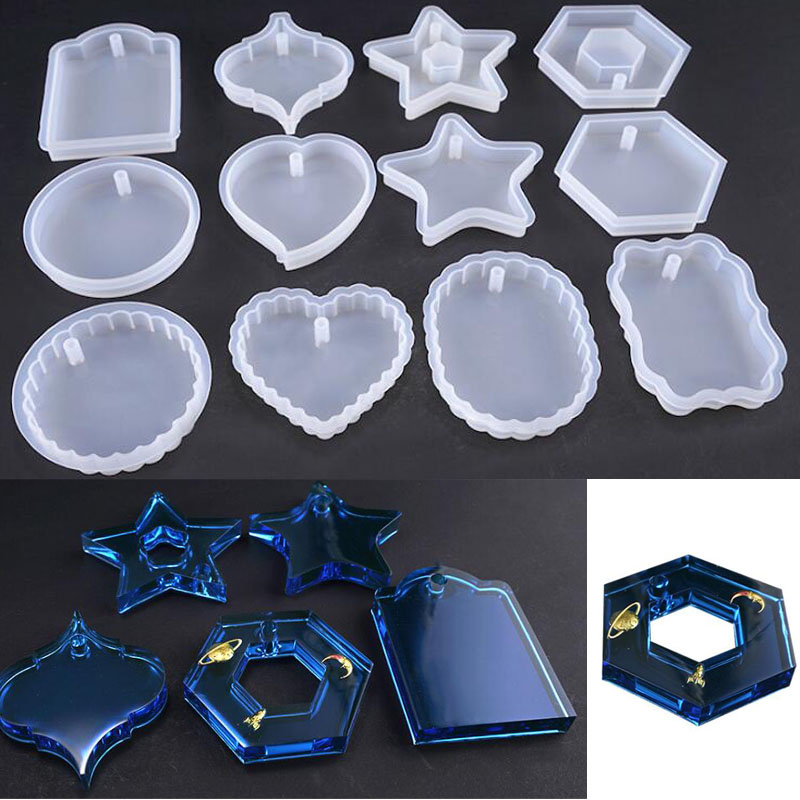 New Transparent Silicone Mould Dried Flower Resin Decorative Craft DIY Pendant Mold epoxy resin molds for jewelry(China)