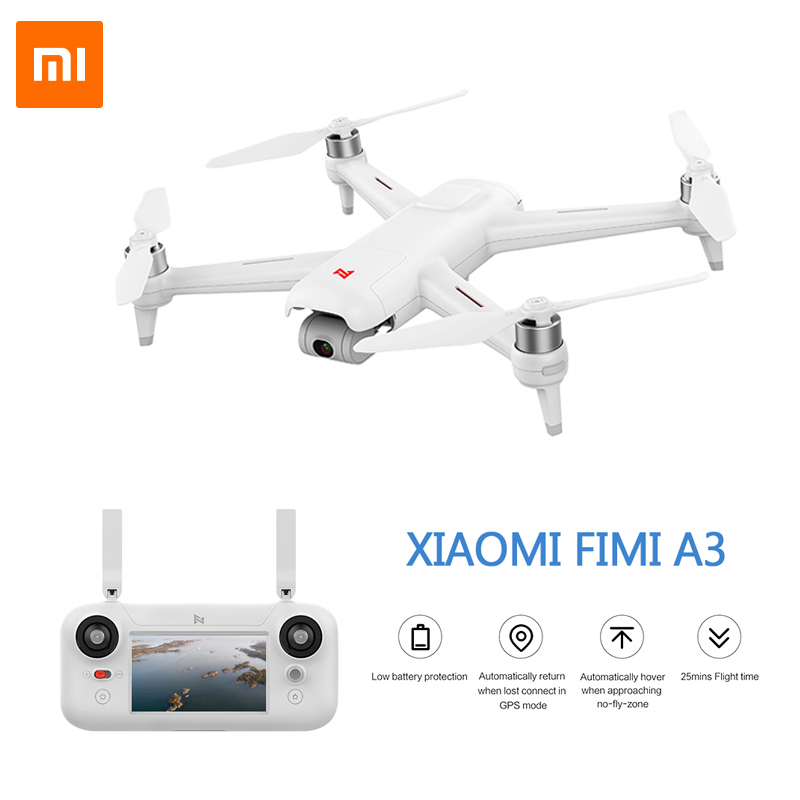 Xiao MI FIMI A3 1 KM FPV RC Zangão 5.8G GPS Com HD 1080 P Câmera Cardan 2- eixo Quadcopter RTF