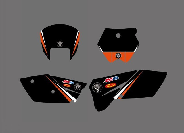 Decal Sticker Motorcycle for KTM SX 125 250 380 400 520 2005 2006 Graphics Bakcgrounds Stickers Accessories New deisgn hot sale