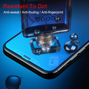 Image 3 - No Fingerprint Full Cover Matte Tempered Glass for iPhone X 8 7 6S Plus Screen Protector Frosted Glass for iPhone XS MAX XR Film