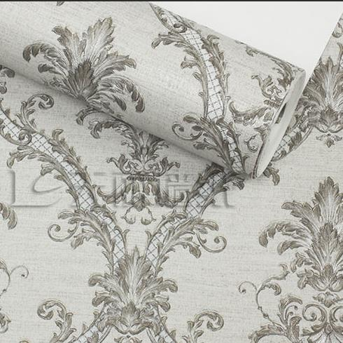 Luxurious 3D embossed floral wallpaper Modern European background wallpaper for walls Grey mural nonwoven wallpaper roll 2015 new brand 5m roll victorian country style for floral flowers background wallpaper