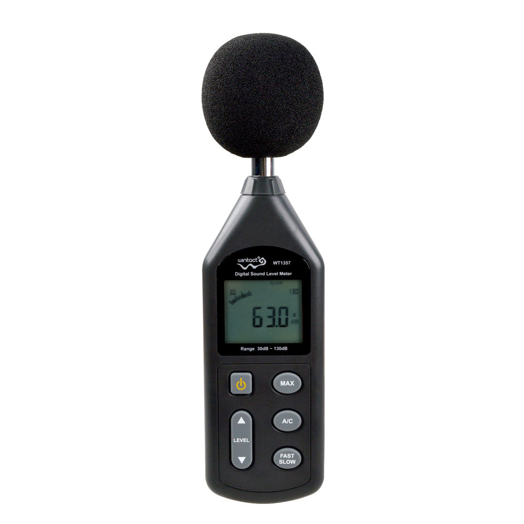 WT1357 Digital Sound Level Meter Noise Level Tester Gauge 30 to 130dB Decibel Meter sndway sw 525b digital sound level meter 30 130db large display usb powered 9 6 decibel meter sound diagnostic tool