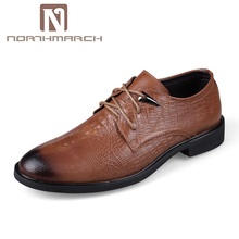 NORTHMARCH Man Shoes Classic Men Dress Genuine Leather Breathable Lace-Up Oxford For Sapato Social Masculino