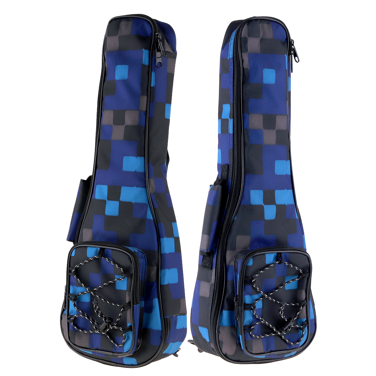21 Inch Colorful Ukulele Bag 10mm Cotton Soft Case Gig Bag Mini Guitar Ukelele Backpack 2 Colors Optional in Guitar Parts Accessories from Sports Entertainment
