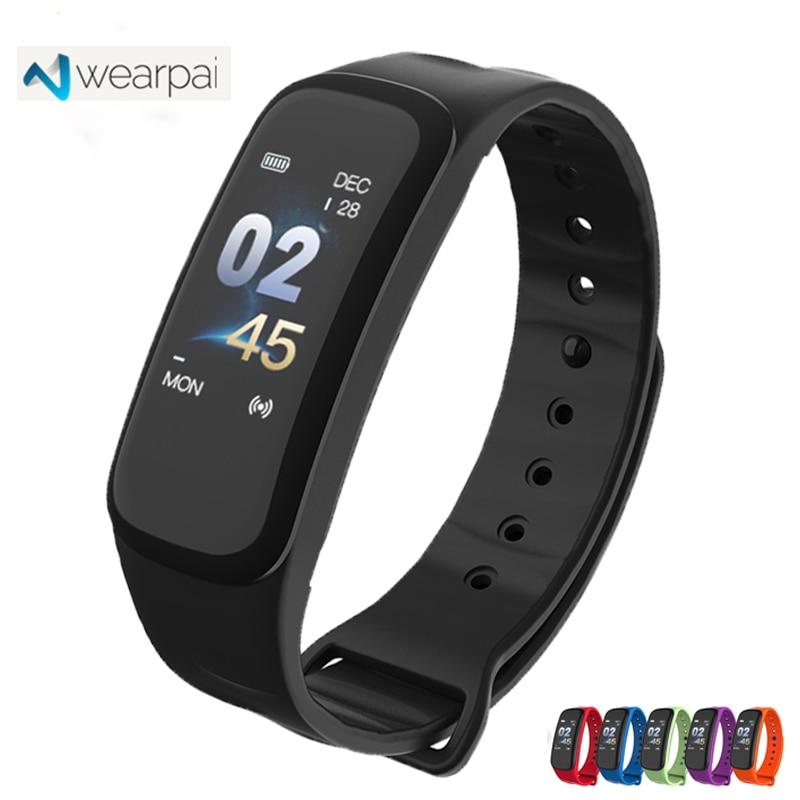 Wearpai C1P Smart Wristband Color Screen smart bracelet women men sport Fitness Tracker heart rate monitor waterproof ip67 Watch