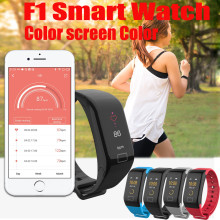 F1 Color Fitness Blood Pressure Oxygen Heart Rate Monitor Smart Watch Bracelet May27