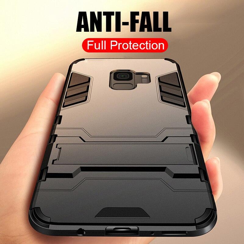 ZNP Броня противоударный держатель чехол для телефона для samsung Galaxy Note 8 9 S7 край стенд полное покрытие для samsung S10 S9 S8 плюс S10E случае