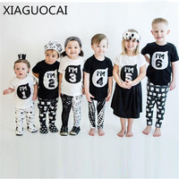 2018 Summer 100 Cotton Boys Girls Children T Shirts Family Matching Outfits Sibling Clothing Kids Clothes