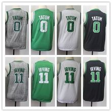 e0a4f38c64c4 2019 New  11 Kyrie Irving  0 Jayson Tatum Youth Stitched Throwback  Basketball Jersey for