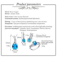 Silver Blue Cubic Zirconia Jewelry Set (3 colors)
