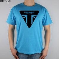 MOTORCYCLES Triumph Short Sleeve T Shirt Top Lycra Cotton Men T Shirt New DIY Style