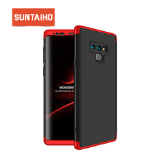 Suntaiho For Samsung Galaxy S8 Case S9 Plus note9 Matte Full Cover Case For Samsung S8 plus Note8 3 in 1 Ultra Thin 360 degree