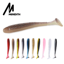 MEREDITH Swing Impac Ring Shad Fishing Lure Soft 55mm 65mm 75mm Plastics Baits Swimbait Jigging Artificial