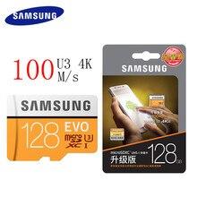 Samsung MicroSD карта 128 ГБ 100 МБ/с. Class10 U3 Micro SD карты памяти TF флэш-карты