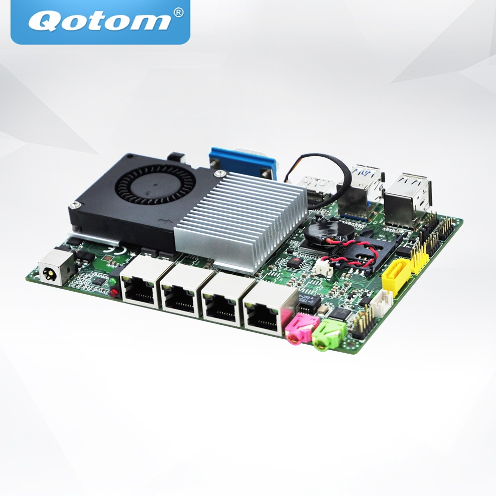 QOTOM Mini Motherboard Q4005UG4-P with 4 Gigabit NIC and Core i3-4005U Processor to build Firewall Router