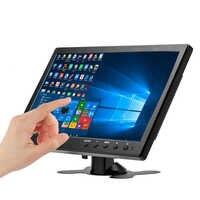 """Pantalla táctil de 10,1 """"monitor LCD de 1920x1200 Visualización completa HDMI pantalla LCD capacitiva industrial con AV/VGA/HDMI/USB/altavoz"""