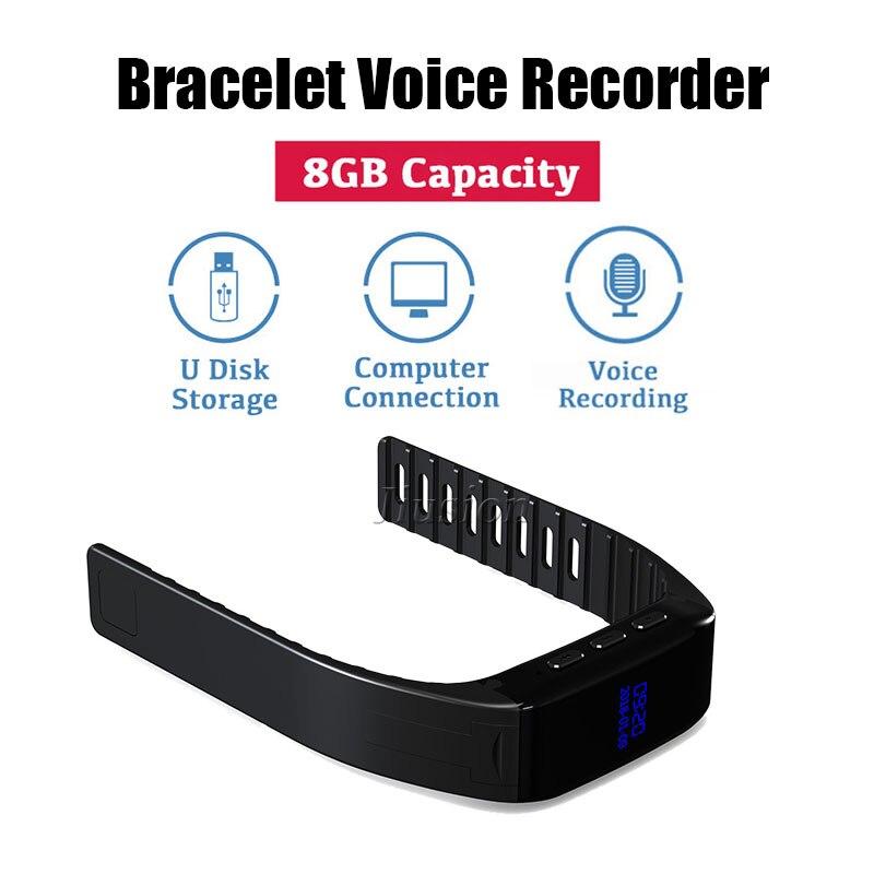 Hingebungsvoll 30 Stunden Audio Armband Voice Recorder 8 Gb-stick Mp3 Musik Player Digital Voice Aktiviert Aufnahme Uhr Ip67 Wasserdicht Die Nieren NäHren Und Rheuma Lindern Unterhaltungselektronik Tragbares Audio & Video